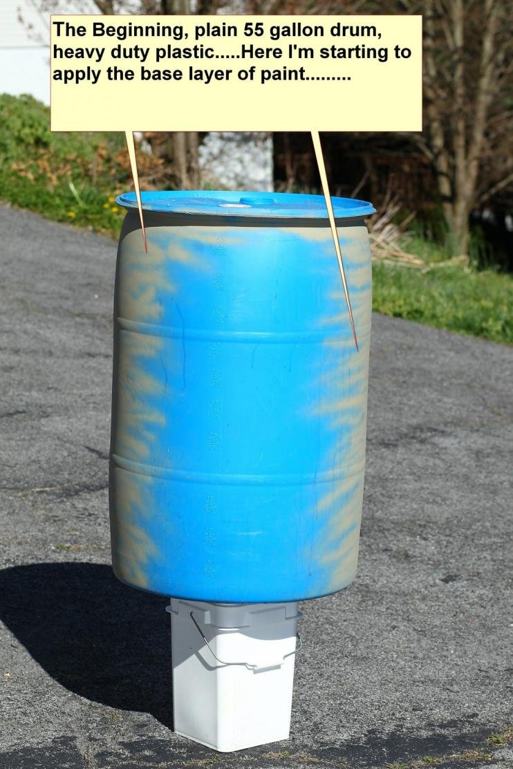 The Start of my Homemade Deer Feeder Gravity Fed with my