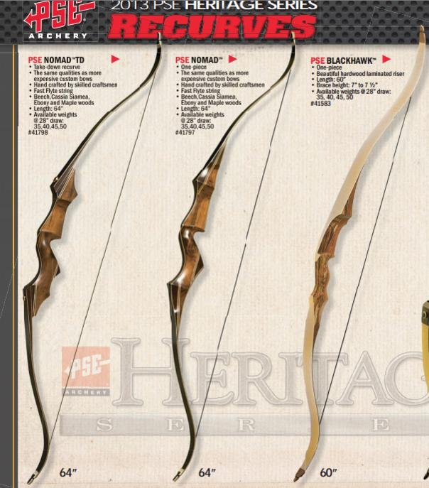 2013 PSE Nomad Take down recurve bow?