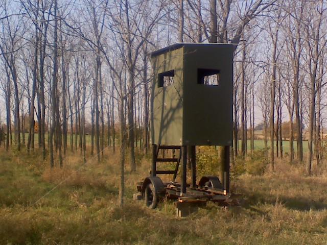 Anyone build their own elevated box blind?