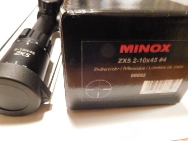For sale nib minox zx5 2 10x45mm with #4 reticle