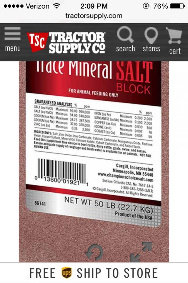 I need the tractor supply homemade mineral site recipe