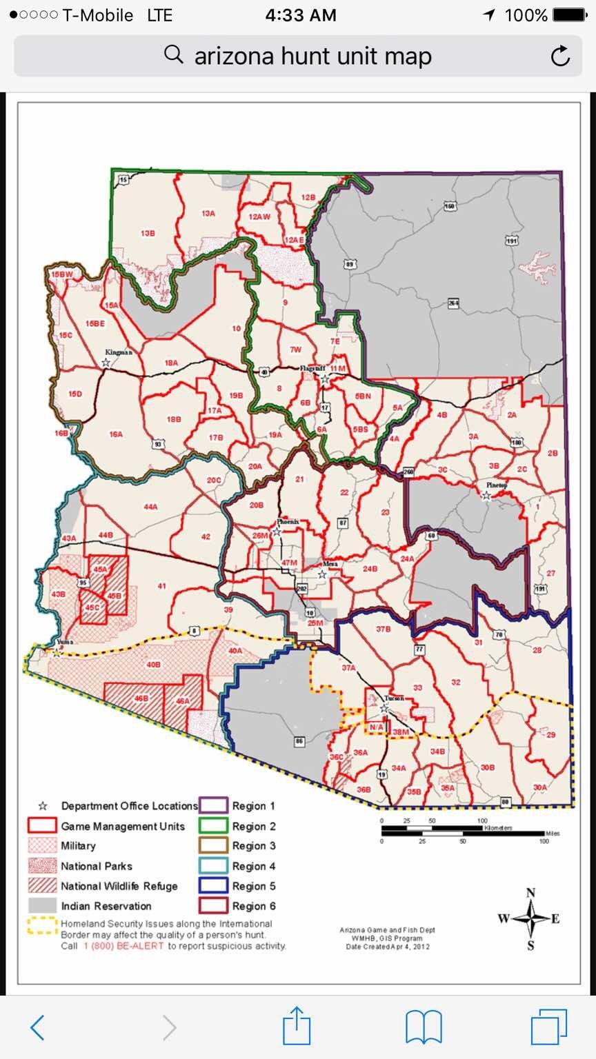 Unit 6a Arizona Map.Az Otc Mule Deer Hunting Suggestions