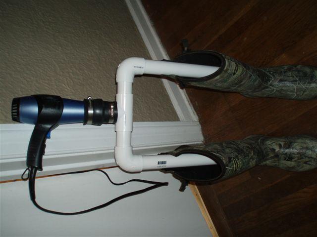 My homemade boot dryer. cost 13 dollars