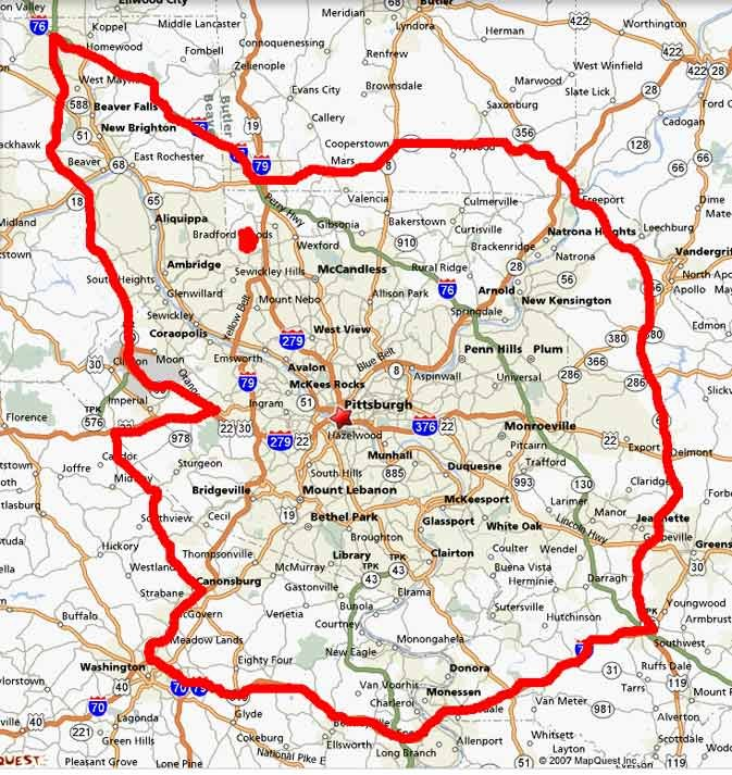 Pa Wmu 2b Boundries Drawn On A Map