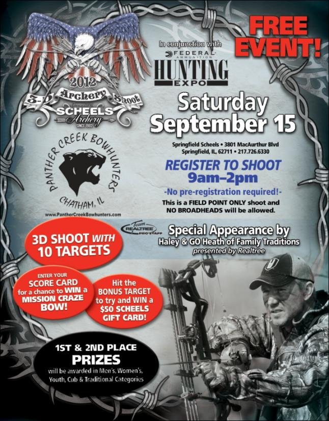 *Free* 10 Target 3D Shoot at Scheels in Springfield, IL Sept. 15th - General Archery Forum