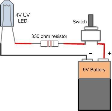 DIY 9V LED sight light